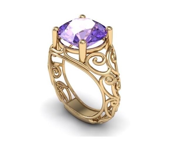 Cera de anillo de piedra de color CCF-001 Superunico